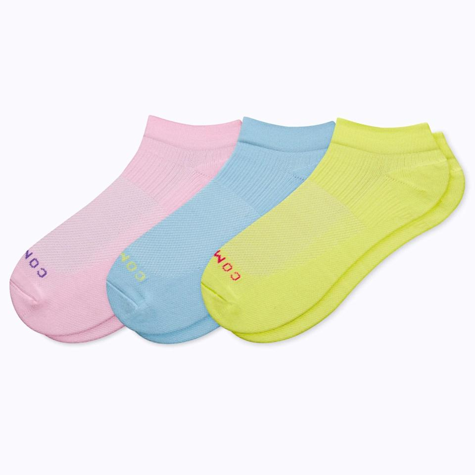"""A trio of compression socks the nurse (or doctor) in your life will appreciate. Extra bonus points if they match her favorite <a href=""""https://www.glamour.com/gallery/best-shoes-for-nurses?mbid=synd_yahoo_rss"""" rel=""""nofollow noopener"""" target=""""_blank"""" data-ylk=""""slk:work shoes"""" class=""""link rapid-noclick-resp"""">work shoes</a>. $49, Comrad. <a href=""""https://www.comradsocks.com/collections/ankle-compression-socks/products/ankle-compression-socks-3-pack-limited?"""" rel=""""nofollow noopener"""" target=""""_blank"""" data-ylk=""""slk:Get it now!"""" class=""""link rapid-noclick-resp"""">Get it now!</a>"""