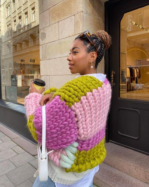 "<p>What better lockdown activity than learning to knit, or honing your knitting skills?</p><p><a class=""link rapid-noclick-resp"" href=""https://go.redirectingat.com?id=127X1599956&url=https%3A%2F%2Fwww.net-a-porter.com%2Fen-gb%2Fshop%2Fproduct%2Fmiu-miu%2Fcrochet-trimmed-sequined-striped-cable-knit-cardigan%2F1278256&sref=https%3A%2F%2Fwww.elle.com%2Fuk%2Ffashion%2Fwhat-to-wear%2Fg34367820%2Fautumn-outfits%2F"" rel=""nofollow noopener"" target=""_blank"" data-ylk=""slk:SHOP CARDIGAN NOW"">SHOP CARDIGAN NOW</a> </p><p><a href=""https://www.instagram.com/p/CFzb0BcheBe/"" rel=""nofollow noopener"" target=""_blank"" data-ylk=""slk:See the original post on Instagram"" class=""link rapid-noclick-resp"">See the original post on Instagram</a></p>"