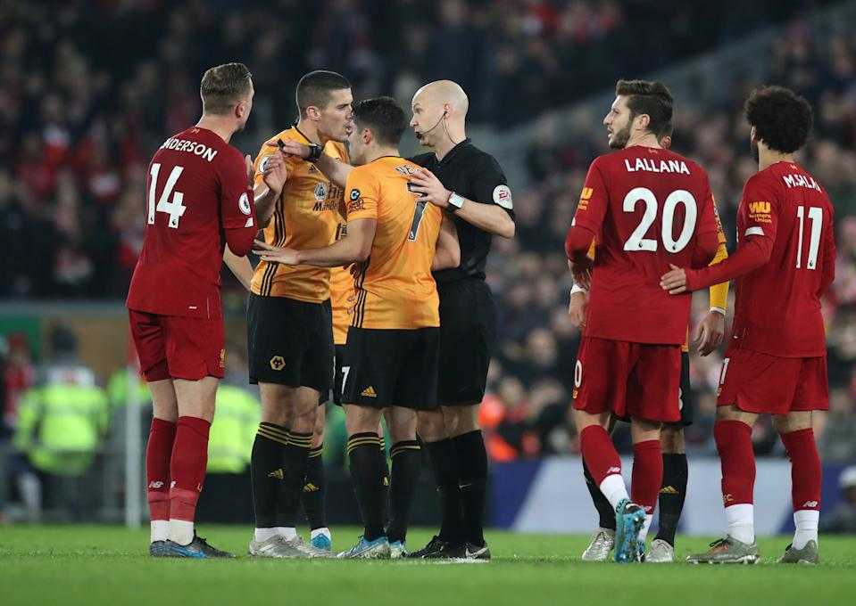 Liverpool's win over Wolverhampton Wanderers on Sunday wasn't without controversy. (Reuters/Carl Recine)