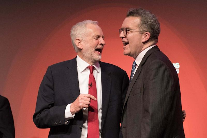 Tom Watson pictured with Jeremy Corbyn (PA)