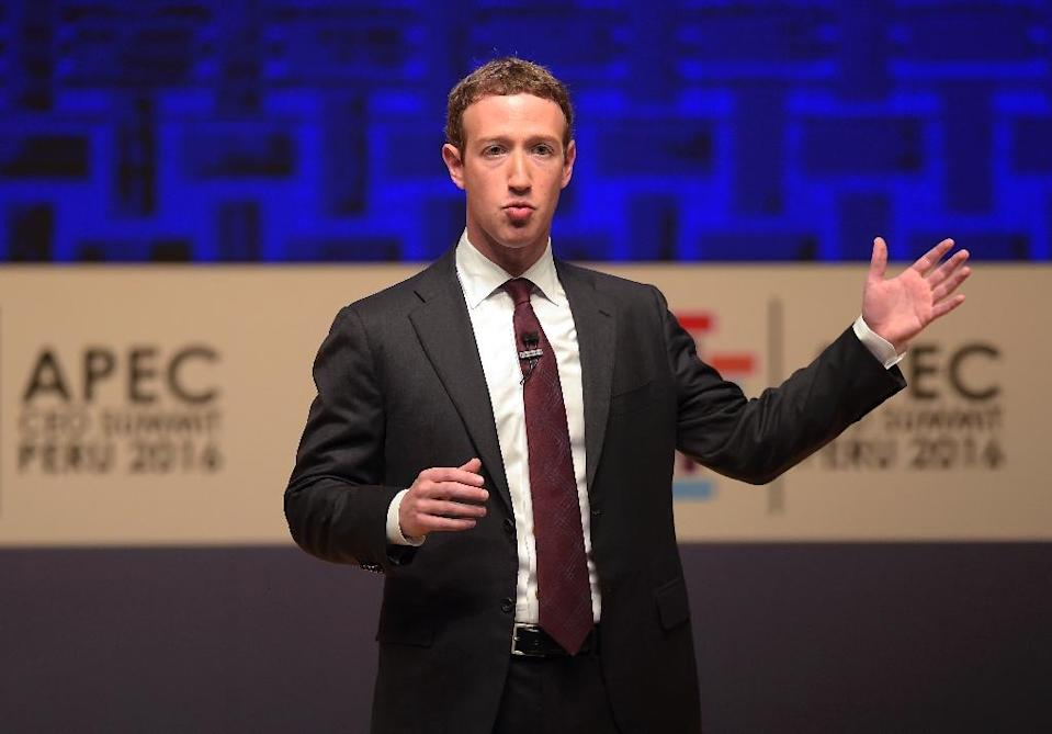 Facebook CEO and chairman Mark Zuckerberg, seen at a 2016 APEC summit in Peru, is likely to be grilled over privacy issues in two congressional hearings (AFP Photo/Rodrigo BUENDIA )