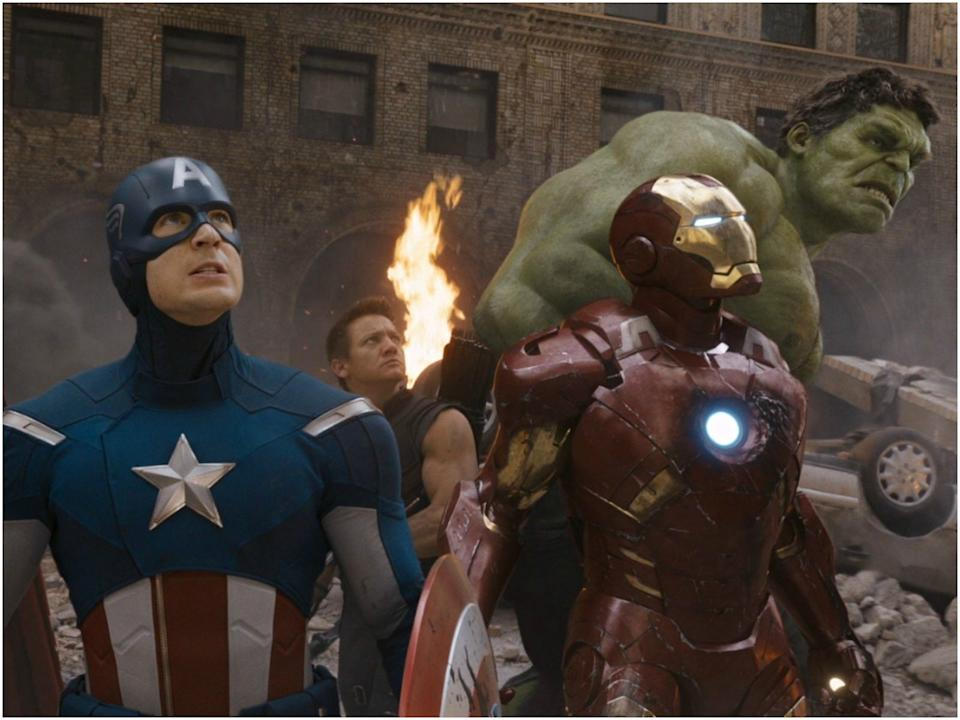 Captain America, Iron Man, the Hulk, Black Widow, and Hawkeye teamed up for the first of many times in a Marvel Studios' film.