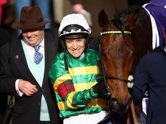 Barry Geraghty rode Champ to victory in the RSA Chase (PA)