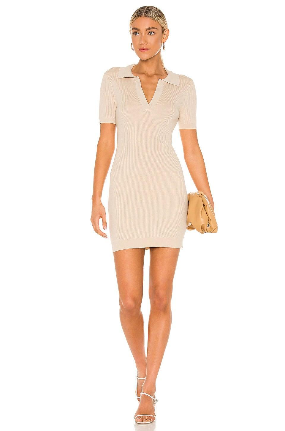 <p>I love that this <span>Line &amp; Dot Brittany Ribbed Mini Dress</span> ($94) is comfortable but still looks pulled together.</p>