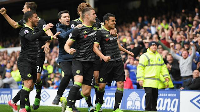 Chelsea passed their final big Premier League test as they beat Everton 3-0 at Goodison Park thanks to a second-half show on Sunday