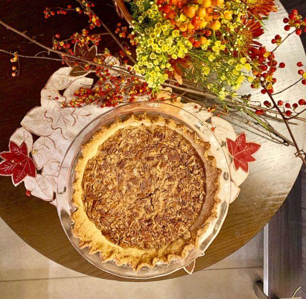 PHOTO: Fresh baked pecan pie made from the top Pinterest recipe. (Kelly McCarthy/ABC News)