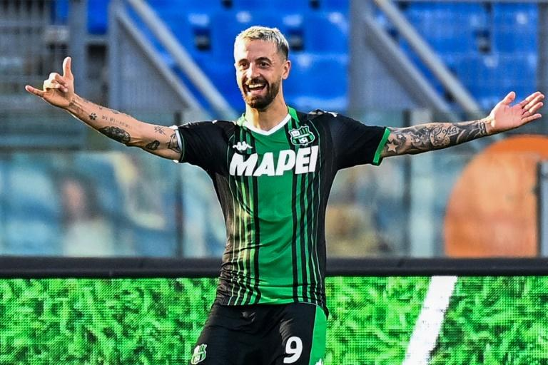 Sassuolo up to second in Serie A after seven-goal Bologna thriller