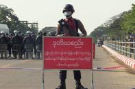 FILE PHOTO: Protest against the military coup in Myanmar