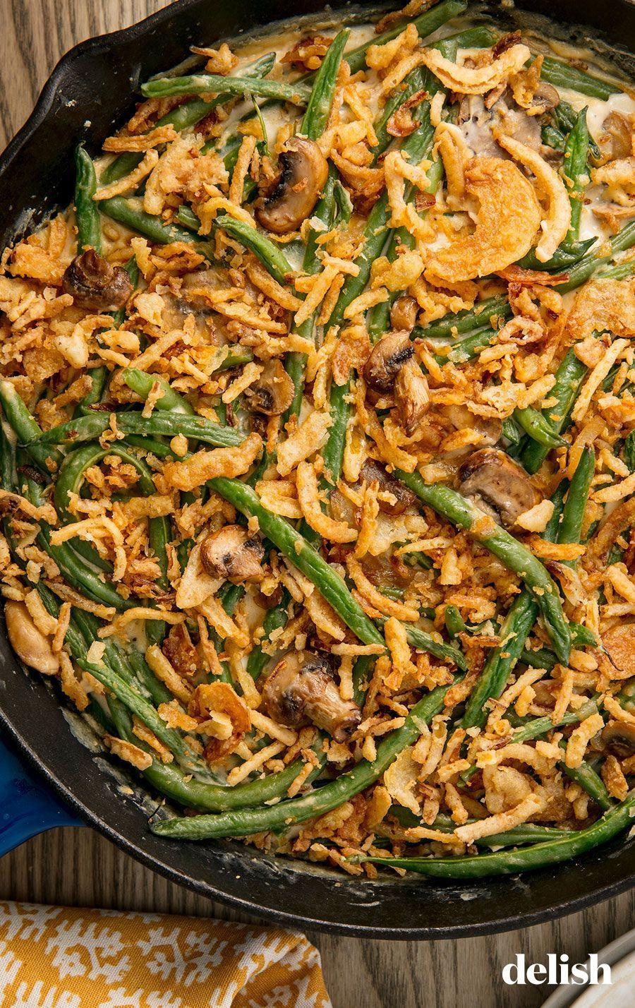 """<p>Green bean casserole is the quintessential <a href=""""http://www.delish.com/holiday-recipes/thanksgiving/"""" rel=""""nofollow noopener"""" target=""""_blank"""" data-ylk=""""slk:Thanksgiving"""" class=""""link rapid-noclick-resp"""">Thanksgiving</a> side. Somebody's gotta bring it.</p><p>Get the recipe from <a href=""""https://www.delish.com/holiday-recipes/thanksgiving/a55340/easy-homemade-classic-green-bean-casserole-recipe/"""" rel=""""nofollow noopener"""" target=""""_blank"""" data-ylk=""""slk:Delish"""" class=""""link rapid-noclick-resp"""">Delish</a>. </p>"""