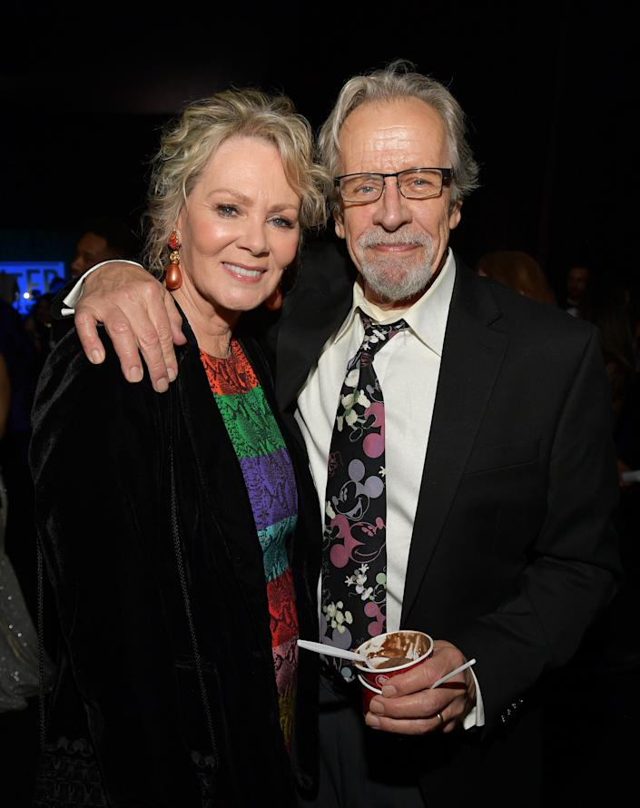 SANTA MONICA, CALIFORNIA - JANUARY 12: (L-R) Jean Smart and Richard Gilliland attend the 25th Annual Critics' Choice Awards at Barker Hangar on January 12, 2020 in Santa Monica, California. (Photo by Matt Winkelmeyer/Getty Images for Critics Choice Association)