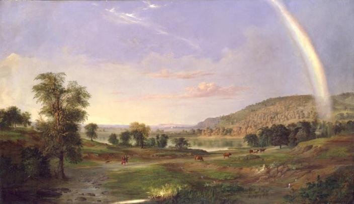 "Robert S. Duncanson, ""Landscape with Rainbow,"" 1859, oil on canvas"