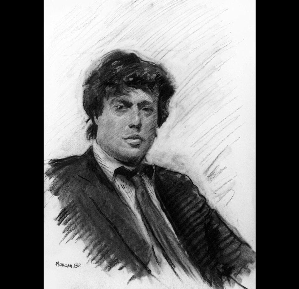 Tom Stoppard, charcoal, 1980 - National Portrait Gallery