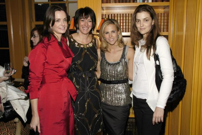 """<div class=""""inline-image__caption""""> <p> Annie Churchill, Ghislaine Maxwell, Tory Burch and Fernanda Niven attend Bobbi Brown's """"Living Beauty"""" Book Launch at Tory Burch Residence on March 13, 2007 in New York City. </p> </div> <div class=""""inline-image__credit""""> Billy Farrell/Patrick McMullan via Getty </div>"""