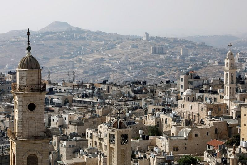 FILE PHOTO: View shows churches and buildings in Bethlehem, in the Israeli-occupied West Bank