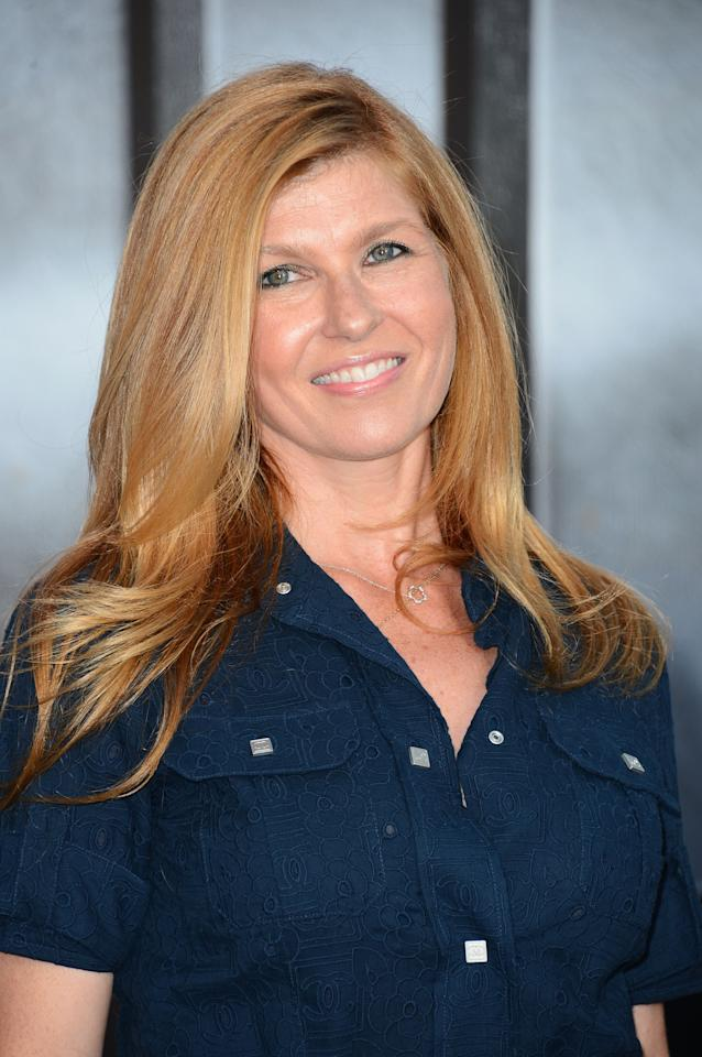 "LOS ANGELES, CA - MAY 10:  Actress Connie Britton arrives at the Premiere Of Universal Pictures' ""Battleship"" at The Nokia Theatre L.A. Live on May 10, 2012 in Los Angeles, California.  (Photo by Frazer Harrison/Getty Images)"