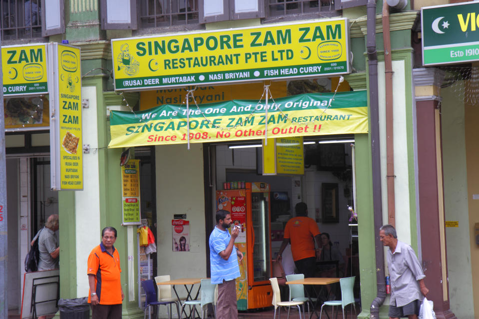 The entrance to Zam Zam restaurant on North Bridge Road. (Photo by: Jeff Greenberg/Universal Images Group via Getty Images)