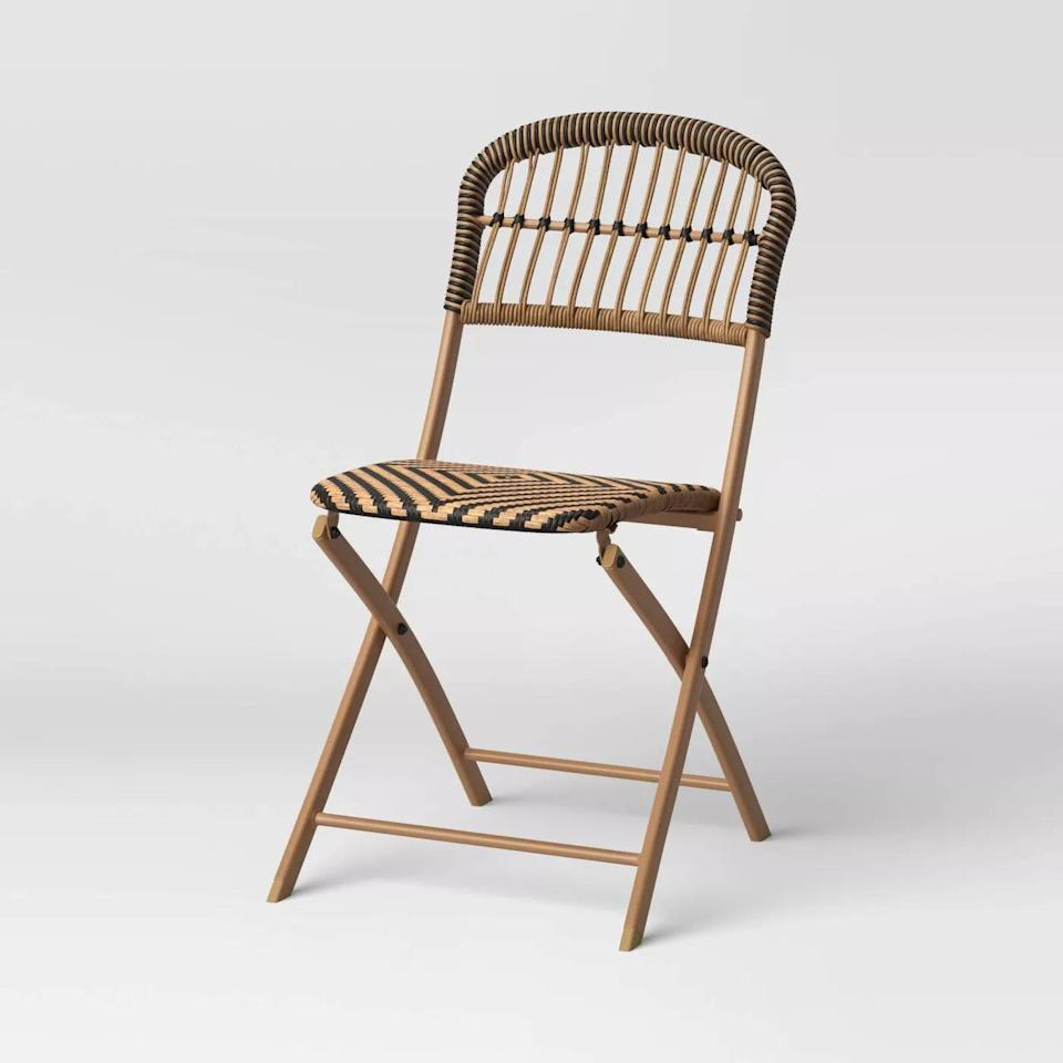 <p>Add a timeless elegance to your veranda or patio with the <span>Aster Folding Patio Chair</span> ($60).</p>
