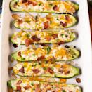 "<p><a href=""https://www.delish.com/uk/cooking/recipes/a34490946/bacon-wrapped-jalapenos-recipe/"" rel=""nofollow noopener"" target=""_blank"" data-ylk=""slk:Jalapeño Poppers"" class=""link rapid-noclick-resp"">Jalapeño Poppers</a> are our favourite appetisers, so naturally, we turned them into an actual dinner. We skipped the frying and put them into courgette boats for an easy, low-carb take on the favourite we can't get enough of. </p><p>Get the <a href=""https://www.delish.com/uk/cooking/recipes/a34927163/jalapeno-popper-zucchini-boats-recipe/"" rel=""nofollow noopener"" target=""_blank"" data-ylk=""slk:Jalapeño Popper Courgette Boats"" class=""link rapid-noclick-resp"">Jalapeño Popper Courgette Boats</a> recipe.</p>"