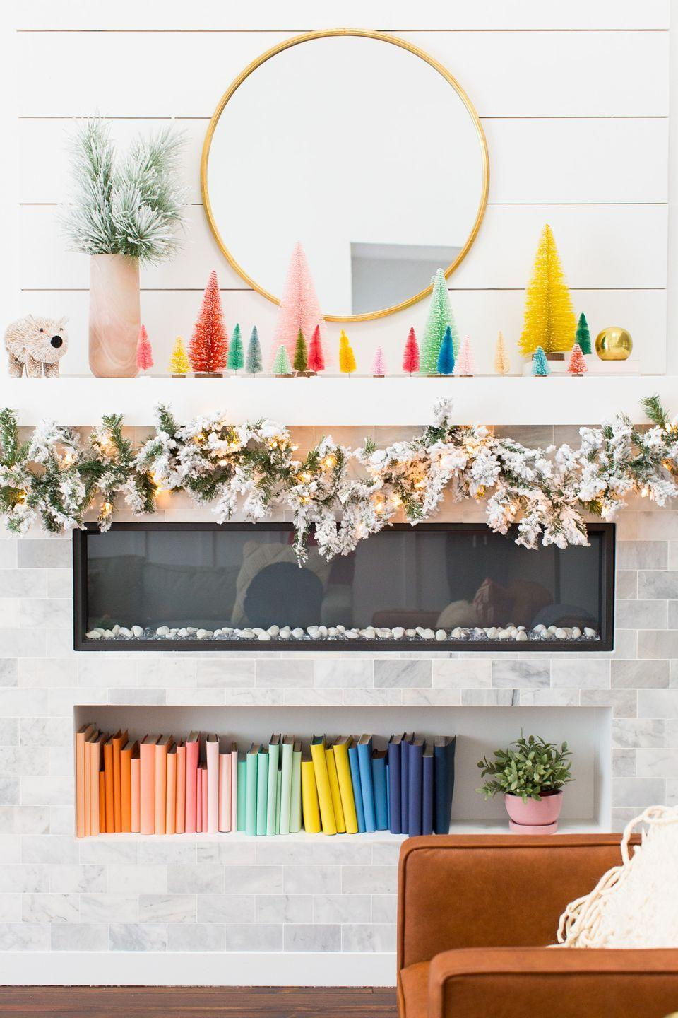 "<p>Embrace it—pastels are happening for Christmas.</p><p>See more at <a href=""https://sugarandcloth.com/how-we-decorated-our-home-for-christmas/"" rel=""nofollow noopener"" target=""_blank"" data-ylk=""slk:Sugar & Cloth"" class=""link rapid-noclick-resp"">Sugar & Cloth</a>. </p>"