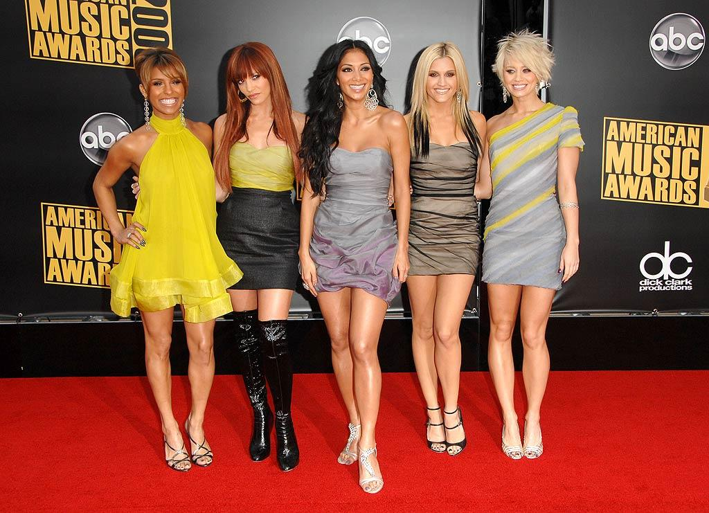 """The Pussycat Dolls showed off their gams in sexy mini dresses. Steve Granitz/<a href=""""http://www.wireimage.com"""" target=""""new"""">WireImage.com</a> - November 23, 2008"""