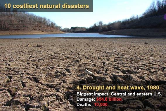 10 costliest natural disasters - Drought and heat wave 1980