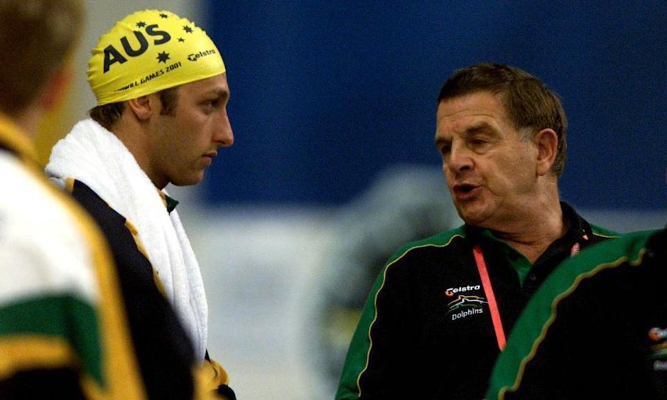 Ian Thorpe with Don Talbot in 2001