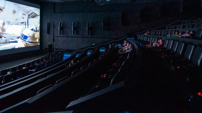 Movie goers watch a film at the AMC Highlands Ranch 24 on August 20, 2020 in Highlands Ranch, Colorado. (Photo by Tom Cooper/Getty Images)