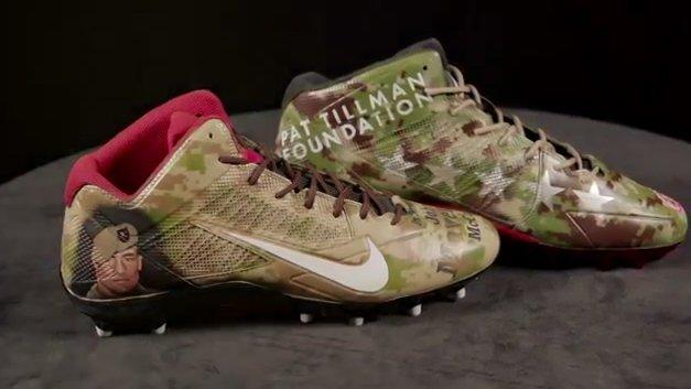 05eeff48a131 Larry Fitzgerald will wear cleats supporting the Pat Tillman Foundation for  Sunday's My Cause My Cleats. (USAA)