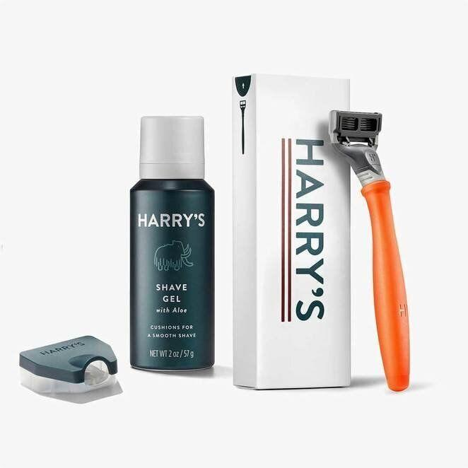 "<a href=""https://www.harrys.com/en/ca/signup/customize"">Harry's starter shaving kit, $8 from Harry's</a>"