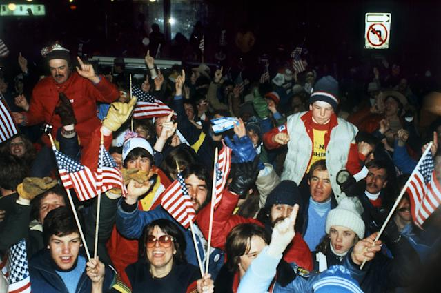 <p>Nearly 35 million people were tuned into the showdown between the USA and the Soviet Union when Mike Eruzione scored the goal that would win the game. You can imagine what the streets of Lake Placid looked and sounded like as fans cheered one of America's greatest Olympic achievements. </p>