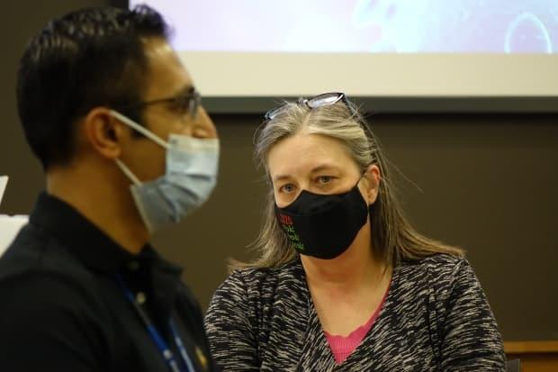 Dr. Janice Fitzgerald, shown here in a file photo, told CBC News that changes may be coming to mask rules in coming weeks. (Patrick Butler/Radio-Canada - image credit)