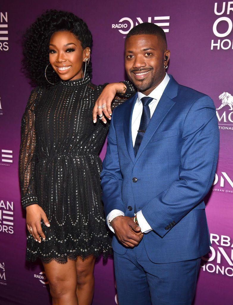 <p>Brandy and Ray J Norwood share more than just musical talent. Both of their heart-shaped faces and wide set eyes make them unmistakably from the same gene pool. </p>