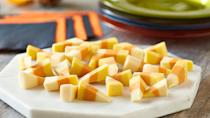 """<p>If you're one of those people who actually love <a href=""""https://www.thedailymeal.com/holidays/candy-corn-origin?referrer=yahoo&category=beauty_food&include_utm=1&utm_medium=referral&utm_source=yahoo&utm_campaign=feed"""" rel=""""nofollow noopener"""" target=""""_blank"""" data-ylk=""""slk:candy corn"""" class=""""link rapid-noclick-resp"""">candy corn</a>, then this recipe is perfect for you. This fudge recipe resembles the candy but mixes condensed milk with white baking chocolate. Use food coloring to give it the iconic orange, white and yellow stripes.</p> <p><a href=""""https://www.thedailymeal.com/recipes/candy-corn-fudge-recipe-0?referrer=yahoo&category=beauty_food&include_utm=1&utm_medium=referral&utm_source=yahoo&utm_campaign=feed"""" rel=""""nofollow noopener"""" target=""""_blank"""" data-ylk=""""slk:For the Candy Corn Fudge recipe, click here."""" class=""""link rapid-noclick-resp"""">For the Candy Corn Fudge recipe, click here. </a></p>"""