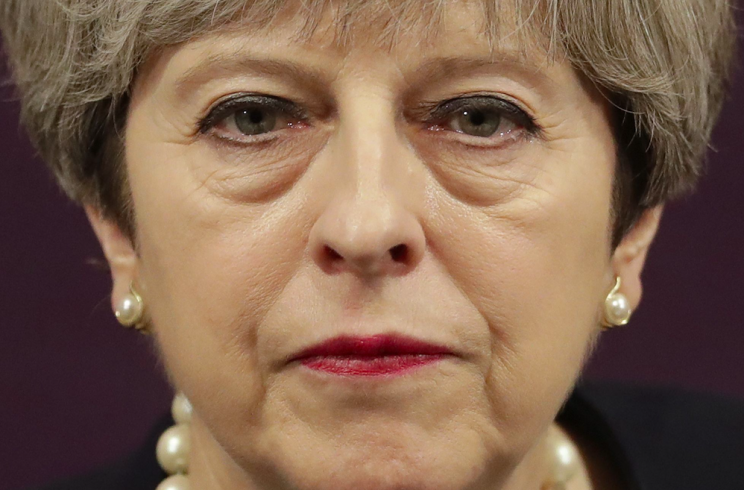 The Prime Minister was criticised for her lack of humility following the election result (Rex)