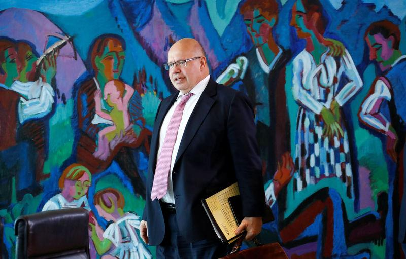 FILE PHOTO - German Economy Minister Peter Altmaier arrives to the weekly cabinet meeting in Berlin