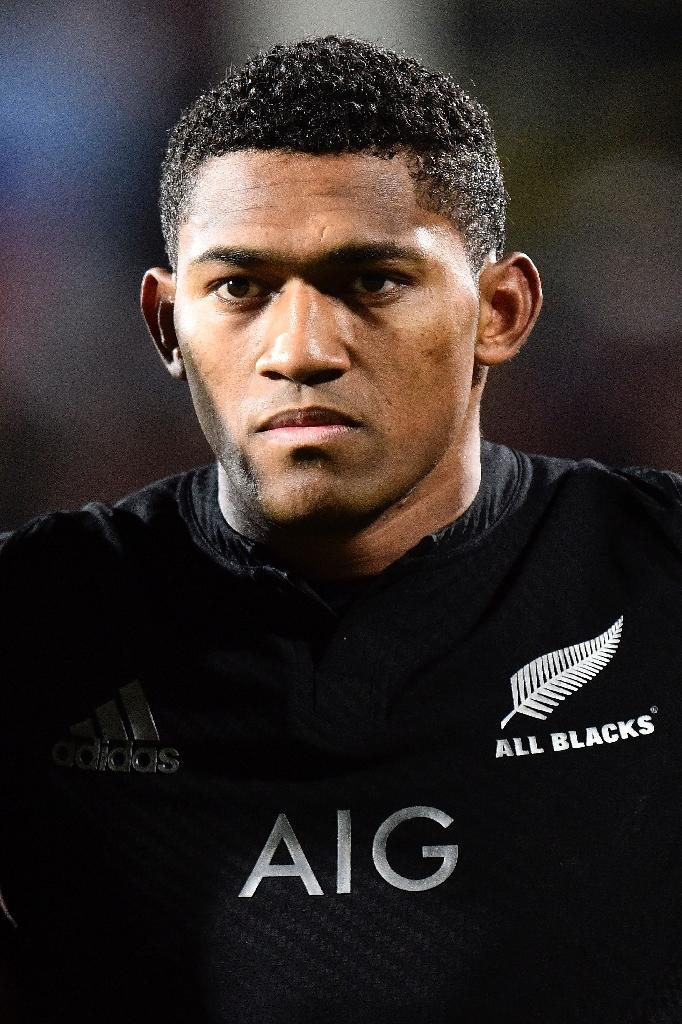 Waisake Naholo of the New Zealand All Blacks ahead of the Rugby Championship Test match against Argentina at AMI Stadium in Christchurch on July 17, 2015 (AFP Photo/Marty Melville)