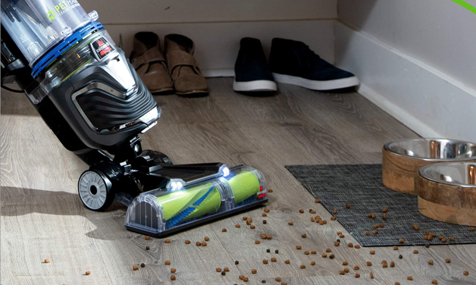 The Bissell Pet Hair Eraser Turbo Rewind Upright Vacuum Cleaner is currently on sale as part of Prime Day 2020.