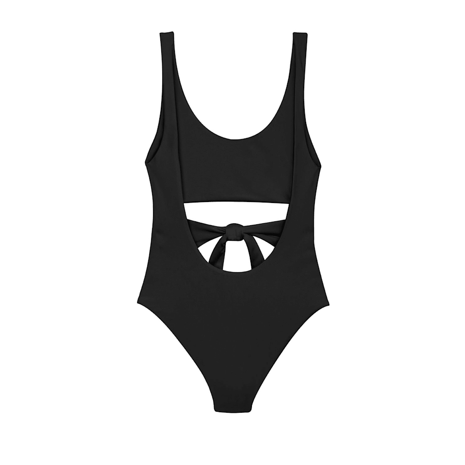 """<p><strong>Jade Swim</strong></p><p>jadeswim.com</p><p><strong>$245.00</strong></p><p><a href=""""https://jadeswim.com/collections/one-pieces/products/bond-one-piece"""" rel=""""nofollow noopener"""" target=""""_blank"""" data-ylk=""""slk:Shop It"""" class=""""link rapid-noclick-resp"""">Shop It</a></p><p>If you're looking for something a little different, try out this cut-out, sash-tie one-piece with loads of built-in details.</p>"""