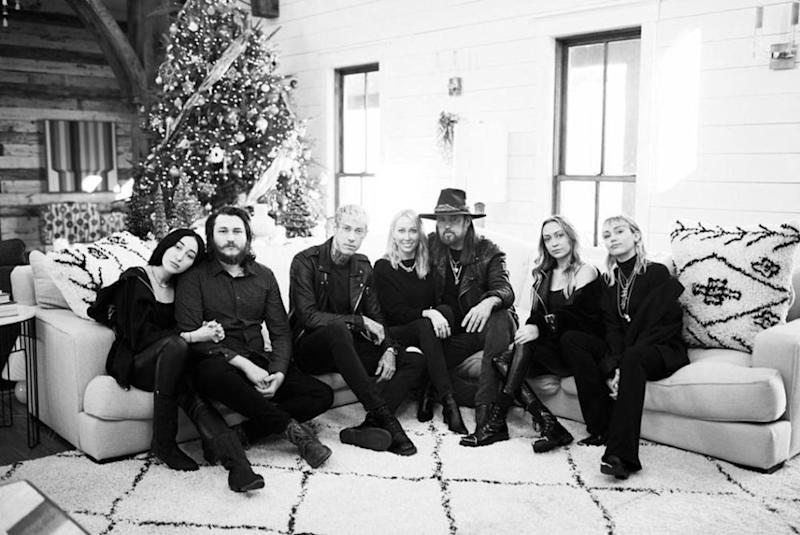 Noah, Braison, Trace, Tish, Billy Ray, Brandi and and Miley Cyrus