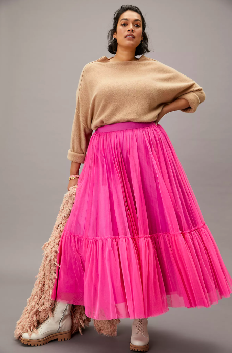 Angelina Tulle Maxi Skirt. Image via Anthropologie.