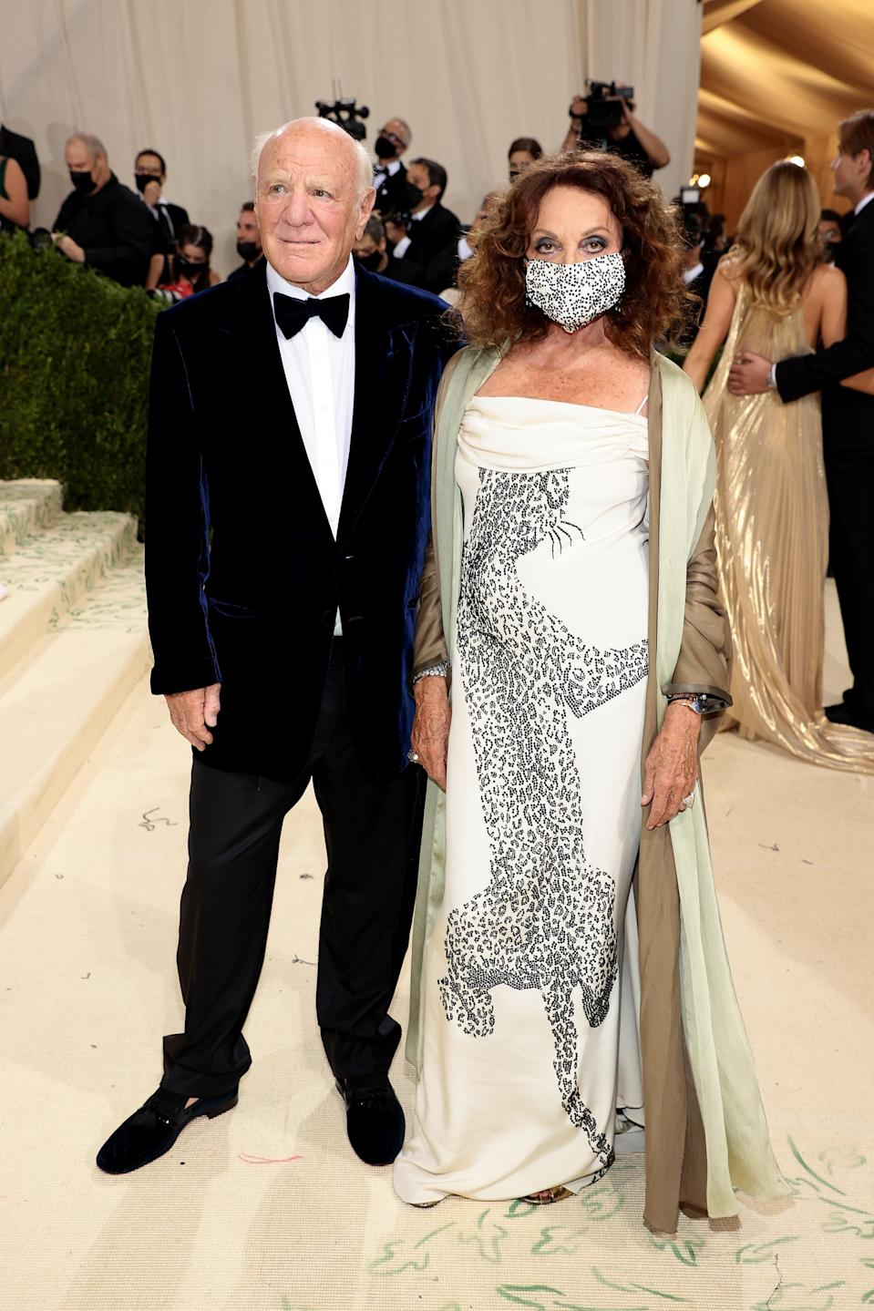 """<h1 class=""""title"""">Barry Diller and Diane von Furstenberg, The 2021 Met Gala Celebrating In America: A Lexicon Of Fashion - Arrivals</h1><cite class=""""credit"""">Getty</cite>"""