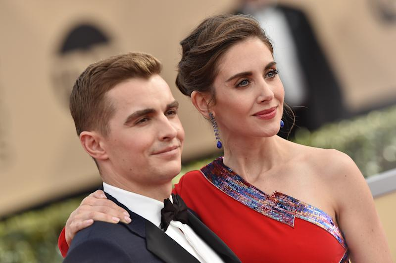 LOS ANGELES, CA - JANUARY 21: Actors Dave Franco and Alison Brie attend the 24th Annual Screen Actors Guild Awards at The Shrine Auditorium on January 21, 2018 in Los Angeles, California. (Photo by Axelle/Bauer-Griffin/FilmMagic)