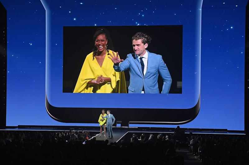 Generation next: Franchesca Ramsey and Casey Neistat on the Lincoln Center Stage for Samsung Creators Unpacked: Jason Kempin/Getty Images