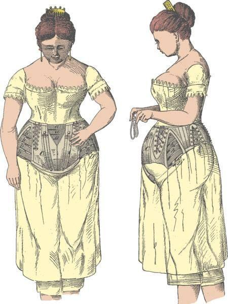 <p>Sadly, the maternity corset was still a mainstay for expectant mothers well into the early 1900s.</p>