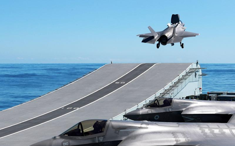 Concerns have been expressed some F-35 planes are unable to take off from aircraft carriers - Royal Navy/MoD/PA