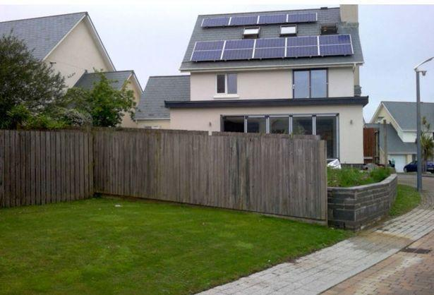"""The garden sloped and Williams wanted it level, though neighbours feared it could let him """"peer"""" into their gardens. (Wales News)"""