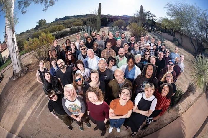 "The Bandcamp team at their annual meetup in Arizona. <span class=""copyright"">(Richard Morgenstein)</span>"