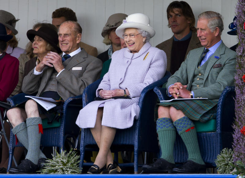 Prince Philip, Queen Elizabeth and Prince Charles, were all in attendance. Photo: Getty Images