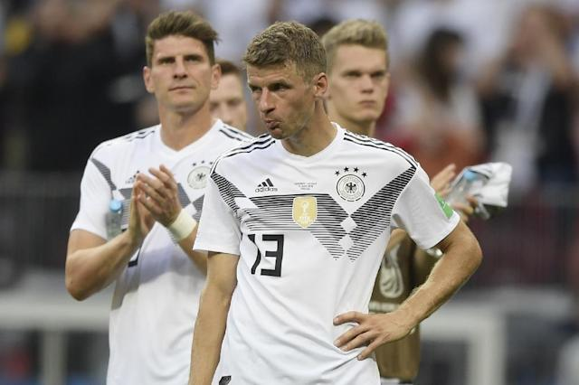Germany forward Thomas Mueller was just one of several 2014 World Cup winners who struggled in their 1-0 defeat to Mexico in Moscow (AFP Photo/Juan Mabromata)