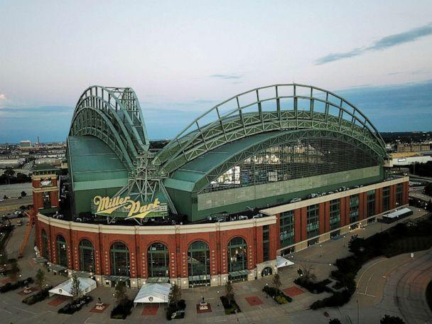PHOTO: Miller Park is seen, July 28, 2020, in Milwaukee. (Morry Gash/AP)